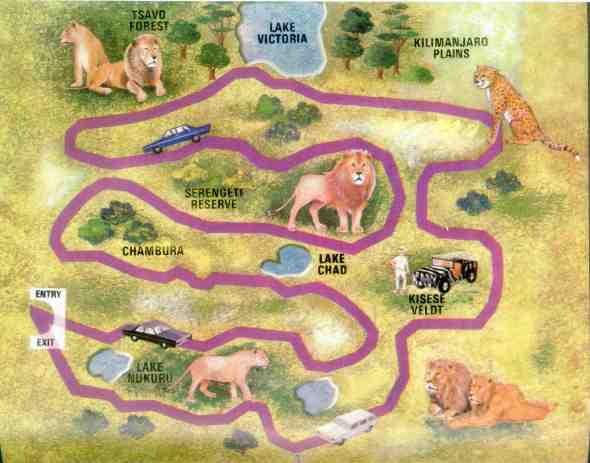 African Lion Safari Map