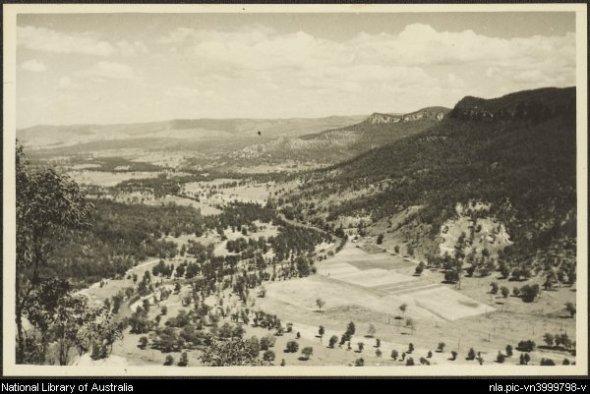 The Burragorang Valley in 1930.