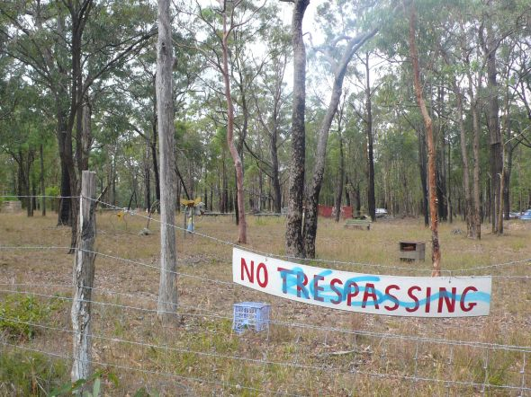 Warragamba no trespassing