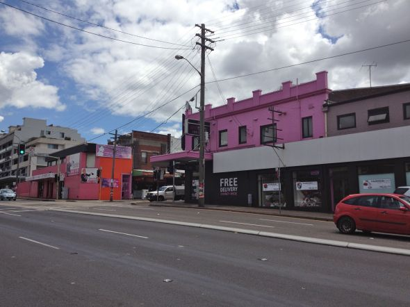 Burwood Pink Buildings