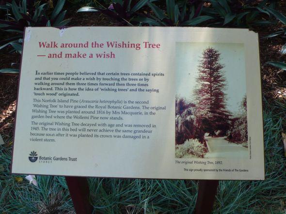 Wishing Tree sign