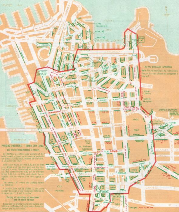 City Parking Map 1960s