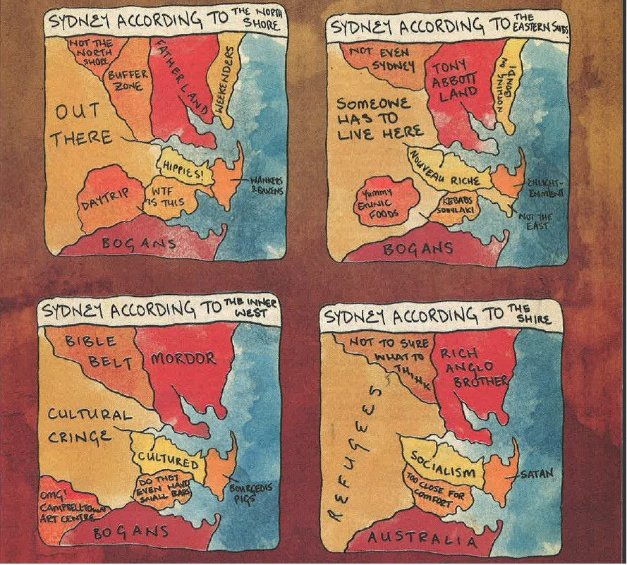 Map Of Australia Joke.A Short History Of Sydney Cartography