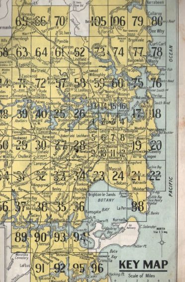Key Map from 1958 Gregorys