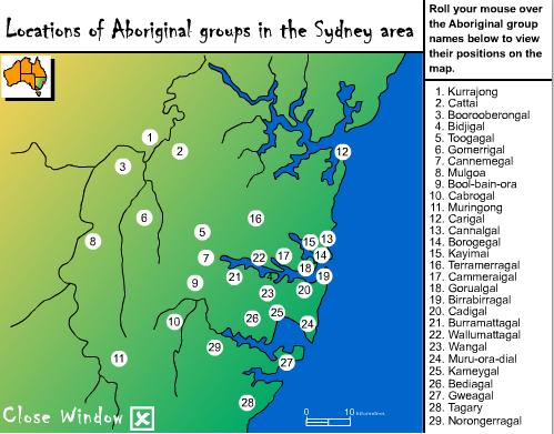 Aboriginal Groups in the Sydney area