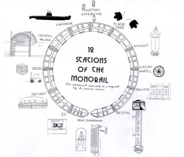 the 12 stations of the monorail