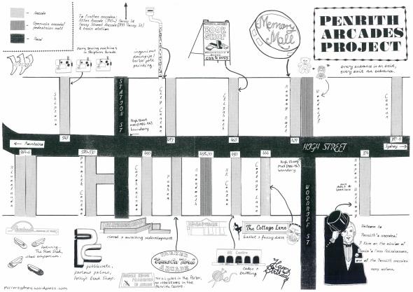 Penrith Arcades Map