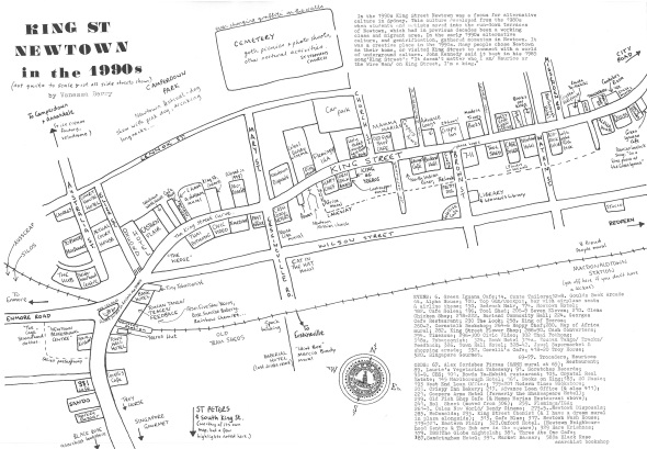 King Street Newtown 1990s map