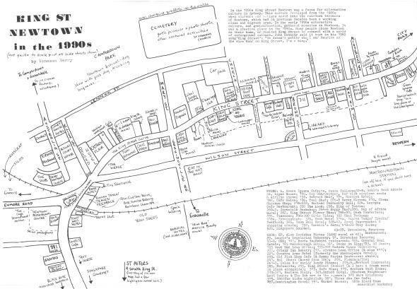 King Street Newtown 1990s map