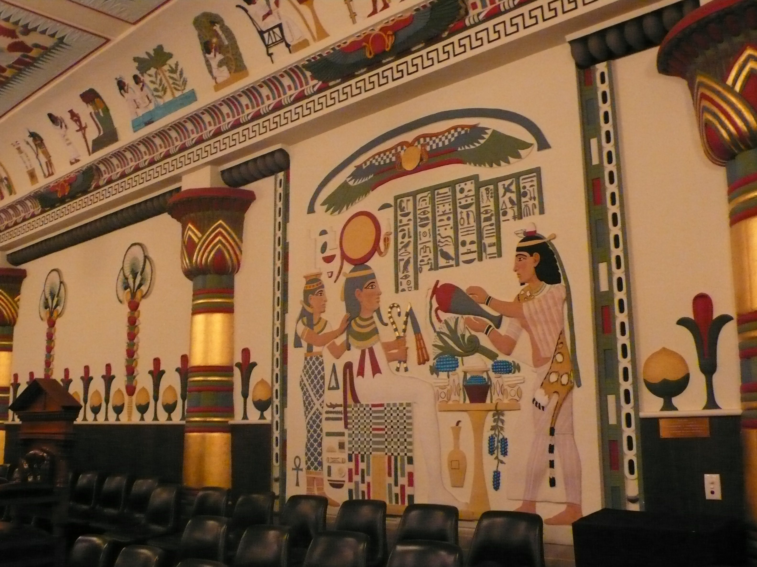 Ancient Egyptian Interior Decor : Ancient Egypt in Petersham: the Egyptian Room at the Masonic Centre ...