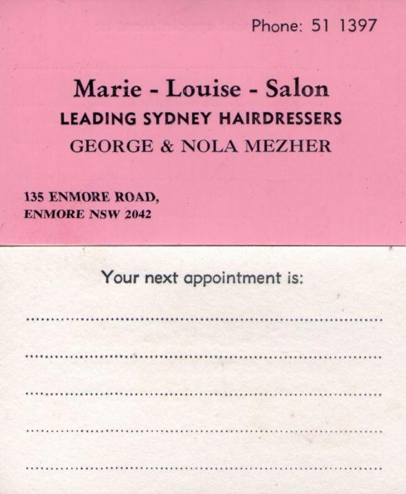 Marie Louise Card