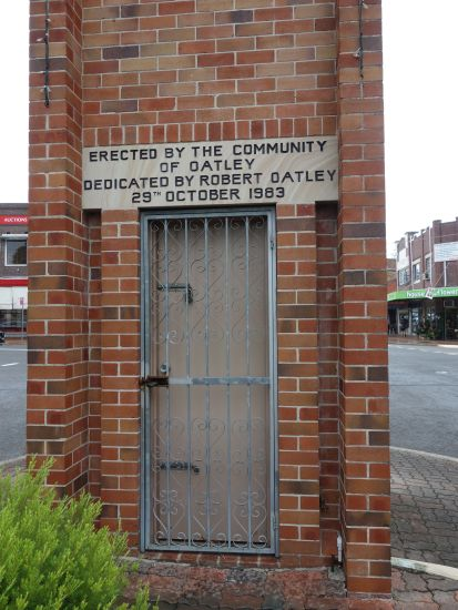 Oatley Clock Door