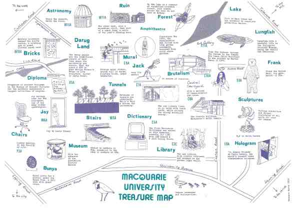 Macquarie University Treasure Map