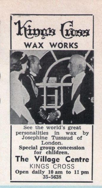 Wax Works Ad 70s