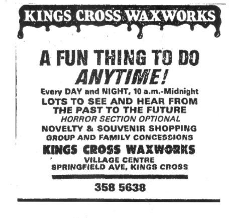 Waxworks Ad