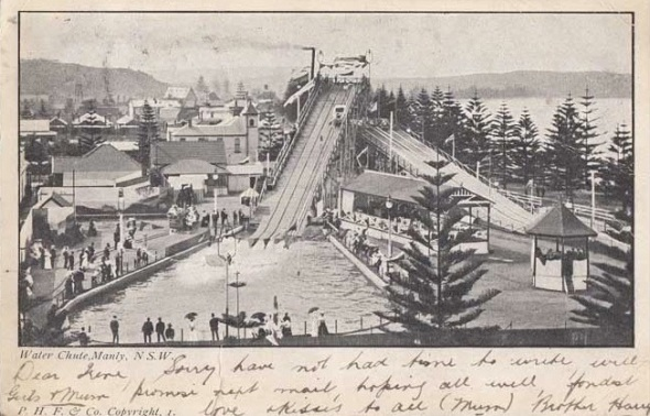 Manly Water Chute Postcard_1