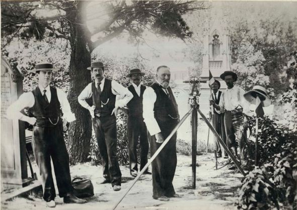Surveying for Central Station in 1900, State Library of NSW.