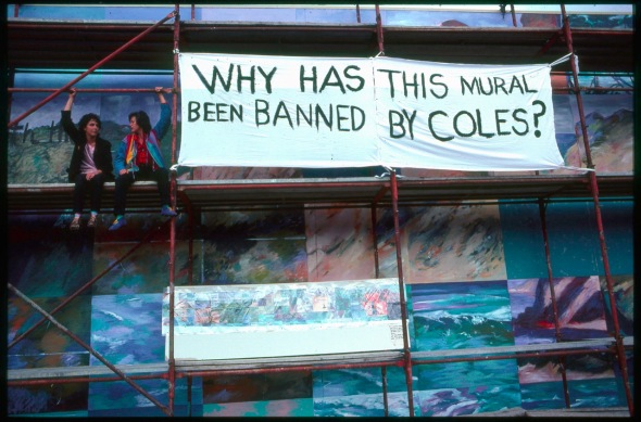 Coles New World banner