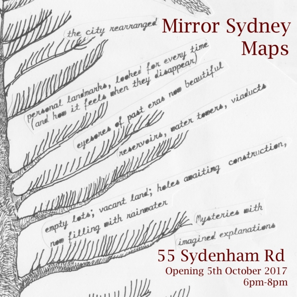 Mirror Sydney Maps Invite